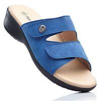 Wygodne klapki niebieski dżins, Bonprix, 36-37