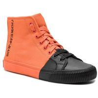 Sneakersy jeans - iridea r7778 orangeade/black, Calvin klein, 36-41