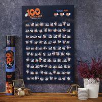 PLAKAT ZDRAPKA #100 BUCKETLIST Kamasutra Edition - PLAKAT ZDRAPKA #100 BUCKETLIST Kamasutra Edition
