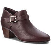 Półbuty CLARKS - Maypearl Milla 261361484 Aubergine Leather, kolor czerwony