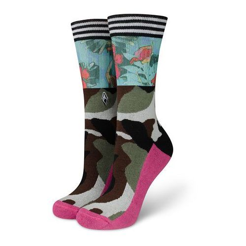 Skarpetki damskie moro Brave Lady - Flamingos VA Socks, kolor zielony