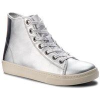 Tommy jeans Sneakersy - light leather mid en0en00231 silver 000