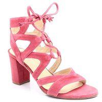 Brenda zaro t2175b różowe - gorsetowe sandały