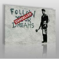 Banksy - follow your dreams - nowoczesny obraz na płótnie marki Vaku-dsgn