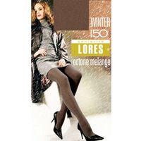 Lores Rajstopy bawełniane melanżowe winter 150 den