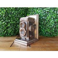 Veronese Steampunk podpórka do książek z zabytkową kamerą (wu76960v4)