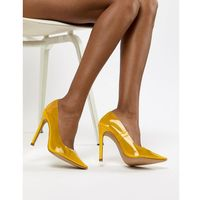 Public desire extra transparent yellow court shoes - yellow