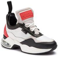 Sneakersy - kl61735 white lthr w/red marki Karl lagerfeld