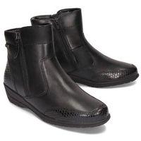 JANA TEX 26433-23 001 black, botki damskie, kolor czarny