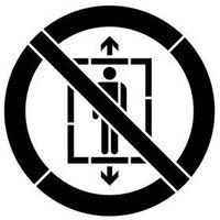 Szablon do malowania znak zakaz używania windy przez ludzi gp027 - 15x15 cm marki Szabloneria