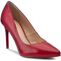 Szpilki WOJAS - 6366-55 Czerwony, kolor czerwony