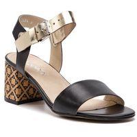 Sandały ANN MEX - 0051 01S+ZŁ+01KR Czarny, w 3 rozmiarach