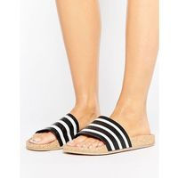 adidas Originals Adilette Slider Sandals Wth Cork Sole - Black, kolor czarny