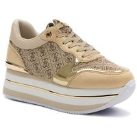 Sneakersy - hinders2 fl7hn2 fal12 beige/brown, Guess