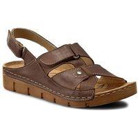 Sandały ŁUKBUT - 554 Kakao, kolor brązowy