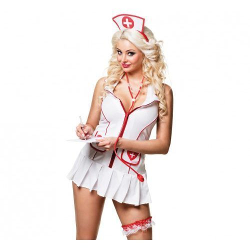 Zestaw pielęgniarki, czepek, strzykawka-długopis, stetoskop, podwiązka