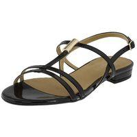 Sandały 52936 czarne lakier, Sagan
