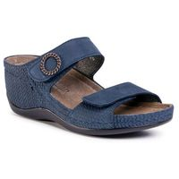 Klapki BERKEMANN - Merrit 01764 Blau 338, kolor niebieski