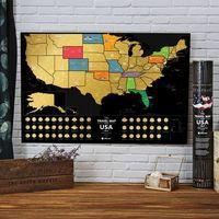 Mapa zdrapka usa travel map™ black usa - mapa zdrapka usa travel map™ black usa marki Mygiftdna