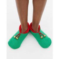 Brave soul christmas elf slipper socks - green