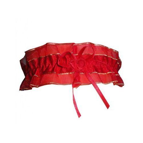 PODWIĄZKA CZERWONA SZEROKA ŚLUB WESELE, kolor czerwony