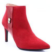 t2878 czerwone - botki, szpilka - czerwony marki Brenda zaro