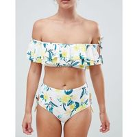 New Look Floral Highwaist Bikini Bottom - Yellow, bikini