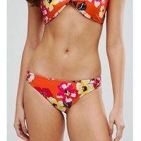 Boohoo floral low rise bikini brief - orange