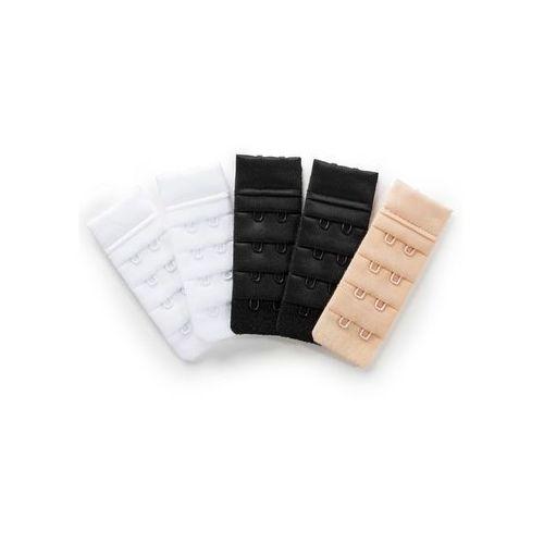 Przedłużenie biustonosza 2x biały + 2x czarny + 1x cielisty, Bonprix