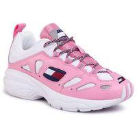 Sneakersy - heritage retro sneaker en0en0776 bubble pink tpl, Tommy jeans
