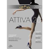 Rajstopy Omsa Attiva 20 den S-XL 5-XL, grafitowy/fumo, Omsa, 8308583229576