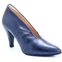 BRENDA ZARO T2275 GRANATOWE - Niskie botki, kolor niebieski