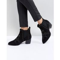 Truffle collection mid heel ankle boots - black