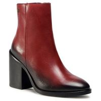 Botki TOMMY HILFIGER - Shaded Leather High Heel Boot FW0FW05164 Deep Rouge VLP, 36-41