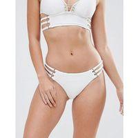 pearl detail strappy bikini brief - white, River island