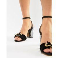 chunky heeled sandal with buckle detail - black, Glamorous