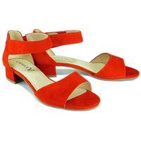 28212-24 524 red suede, sandały damskie marki Caprice