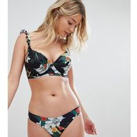 Peek & Beau Floral Bikini Top DD-G - Black, w 3 rozmiarach