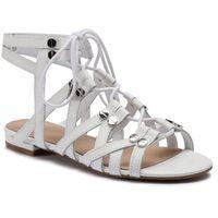 Sandały GUESS - Ramonda FL6RAM LEA03 WHITE