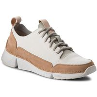 Sneakersy - tri spark. 261353304 white leather, Clarks