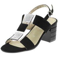 Sandały Ann Mex 8616 - Czarne 01W, kolor czarny