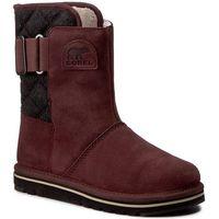 Buty SOREL - Newbie NL2068-628 Redwood/Black, kolor czerwony