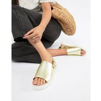 metallic flatform sandals in gold - gold, Monki