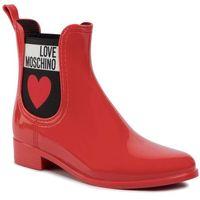 Kalosze LOVE MOSCHINO - JA21013G1AIS0500 Rosso, kolor czerwony