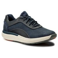 Sneakersy - un cruise lace 261326704 navy combi, Clarks