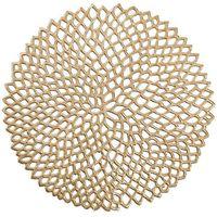 Podkładka ochronna, dekoracyjna mata na stół - kolor złoty, Ø 38 cm, ZELLER (4003368268156)