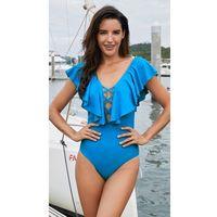 Strój kąpielowy Frill Blue XXL, kolor niebieski