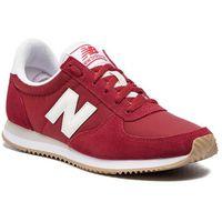 Sneakersy NEW BALANCE - WL220CRA Bordowy, kolor czerwony