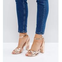 The march rose gold block heeled sandals - gold