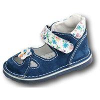 Adamki profilaktyczne buty wzór 017nk-10 kolor jeans/biały kwiat